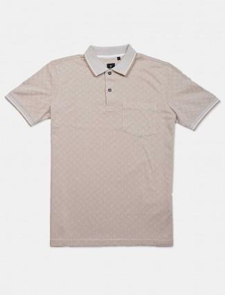 Van Heusen beige printed t-shirt