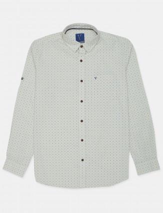 Van Heusen mens off-white printed pattern shirt