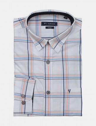Van Heusen patch pocket white checks shirt