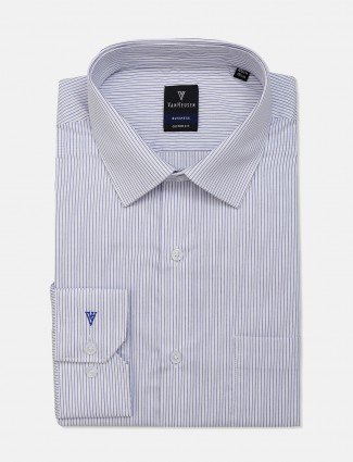 Van Heusen patch pocket white stripe shirt