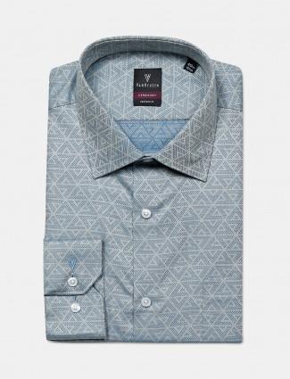 Van Heusen printed grey color shirt