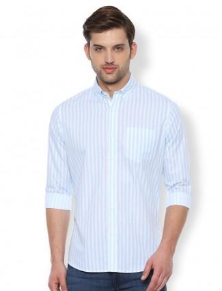 Van Heusen Sport stripe sky blue slim fit shirt