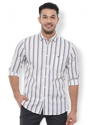 Van Heusen Sport white stripe casual shirt