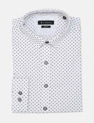 Van Heusen white printed shirt for mens