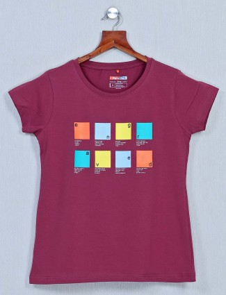 Violet cotton top for women in casual styles