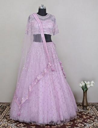 Voguish violet hue designer lehenga choli for women