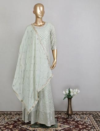 Wedding sessions pista green designer salwar kameez