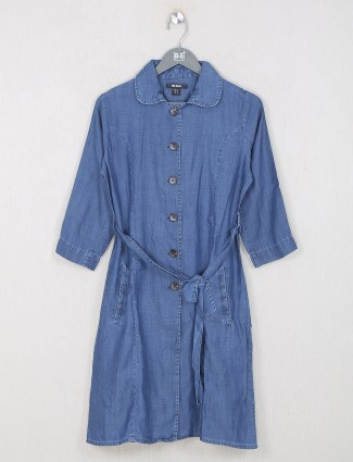 Western wear denim dark blue top for women