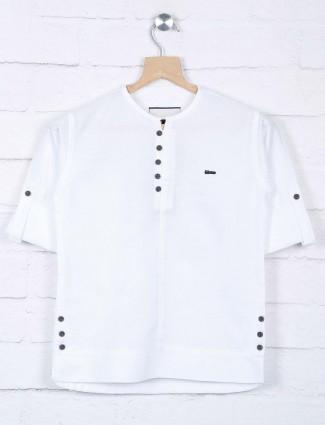 White color cotton casual wear shirt