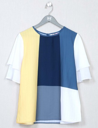 White crepe top for women