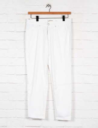 white denim solid women jeans
