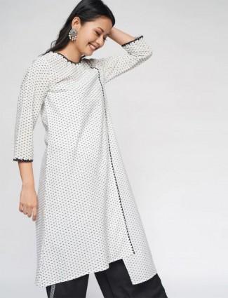 White festive wear cotton kurti