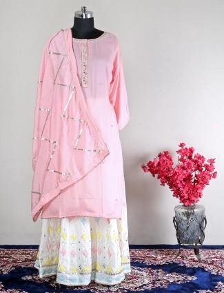 Womens pink wedding wea cotton suit