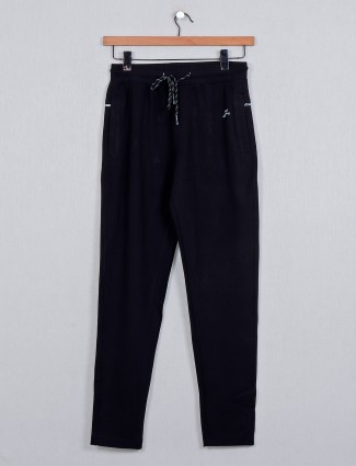 XN Replay black solid track pant