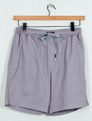 XN Replay solid grey solid casual shorts