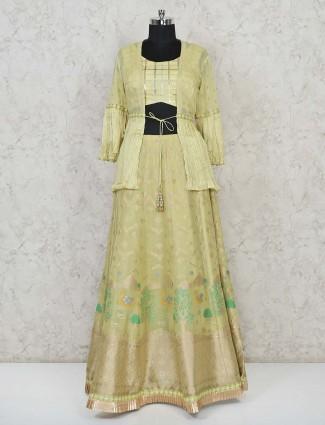Yellow banarasi silk wedding special lehenga choli
