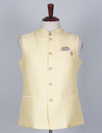 Yellow colored silk waistcoat