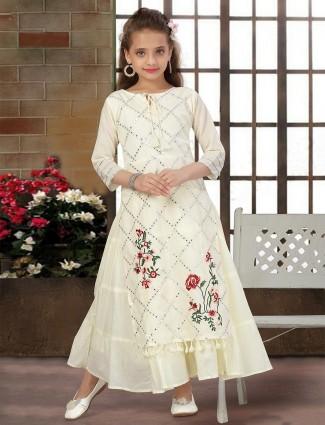 Yellow cotton designer wedding gown