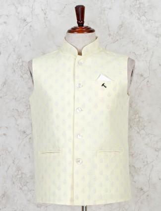 Yellow cotton mens waistcoat