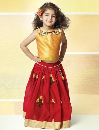 Yellow net party wear lehenga choli