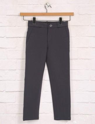 Zillian dark grey cotton trouser for boys
