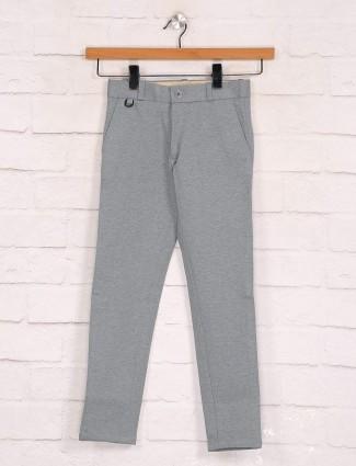 Zillian grey cotton trouser for boys