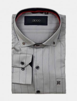 Zillian grey stripe patern formal shirt