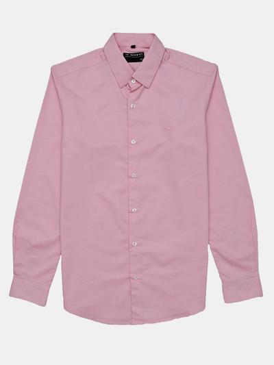 Mufti solid pink mens shirt
