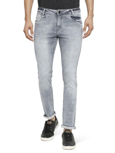 Mufti super slim fit light grey jeans
