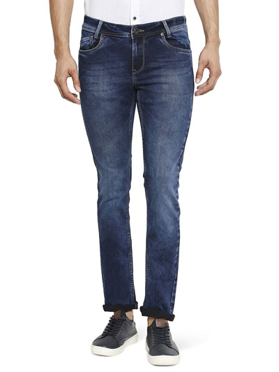 Mufti washed blue skinny fit jeans
