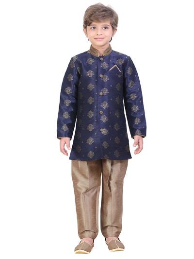 Navy silk festive wear indo western
