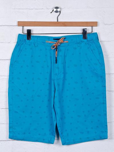 Origin aqua color printed casual shorts