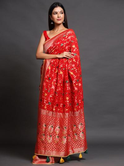 Party wear designer banarasi silk saree