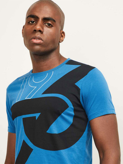 Pepe Jeans blue printed cotton t-shirt