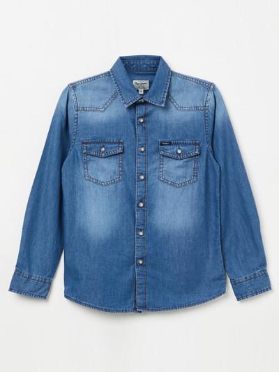 Pepe Jeans denim fabric blue hue shirt
