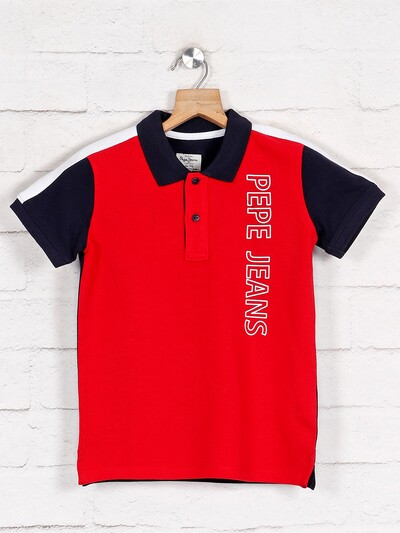 Pepe Jeans printed red casual t-shirt