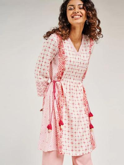 Pink casual wear kurti for women