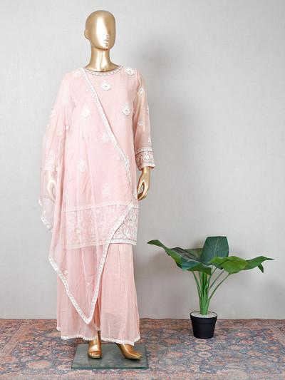 Pink designer salwar kameez for party function