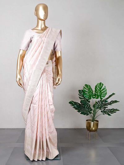 Pink dola silk saree for women
