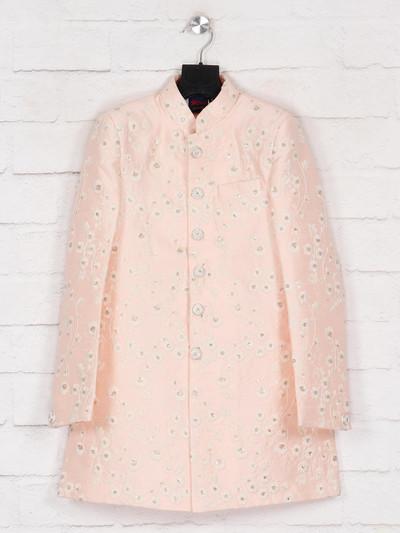 Pink terry rayon wedding wear indo western