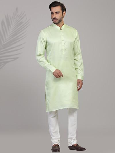 Pista green festive wear kurta suit
