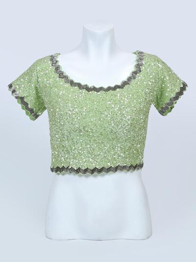 Pista green wedding wear readymade blouse
