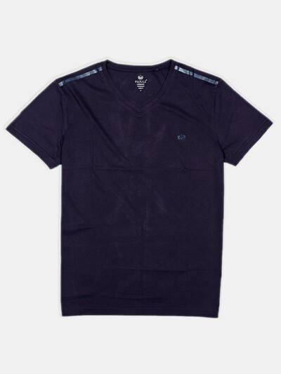 Psoulz mens solid navy t-shirt