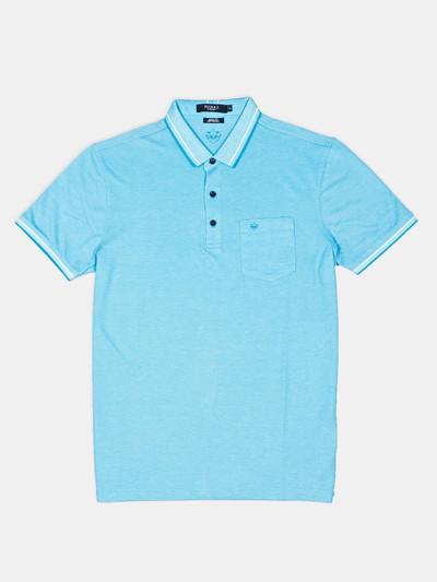 Psoulz solid blue casual t-shirt