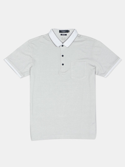 Psoulz solid grey casual t-shirt