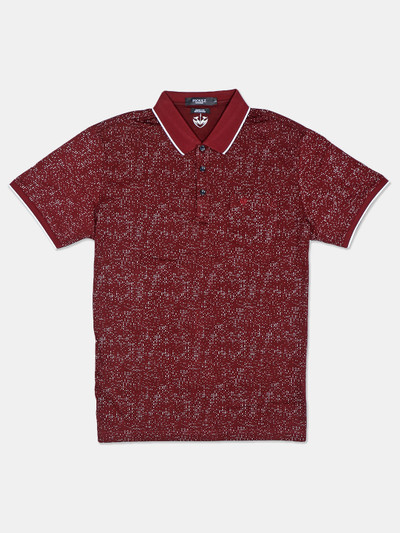 Psoulz solid maroon casual mens t-shirt