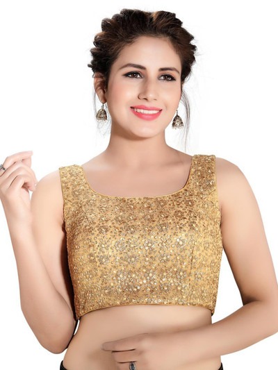 Readmade gold colour blouse in raw silk