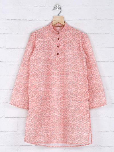 Red hue cotton kurta suit
