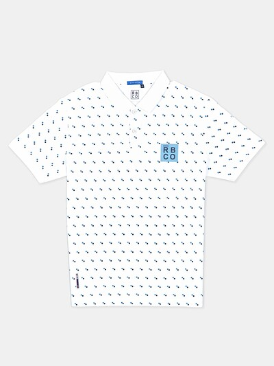 River Blue presented white printed mens t-shirt