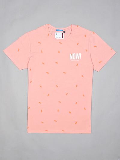 River Blue printed pink cotton t-shirt